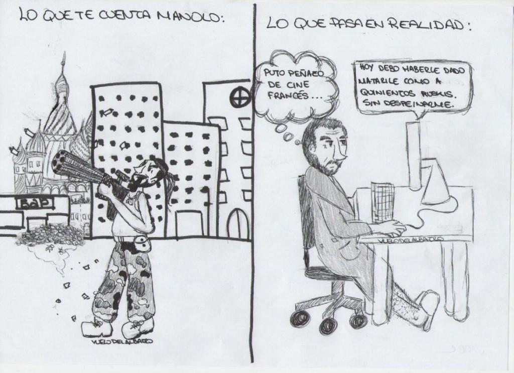 La viñeta: Manolo, A LA PUTA CALLE