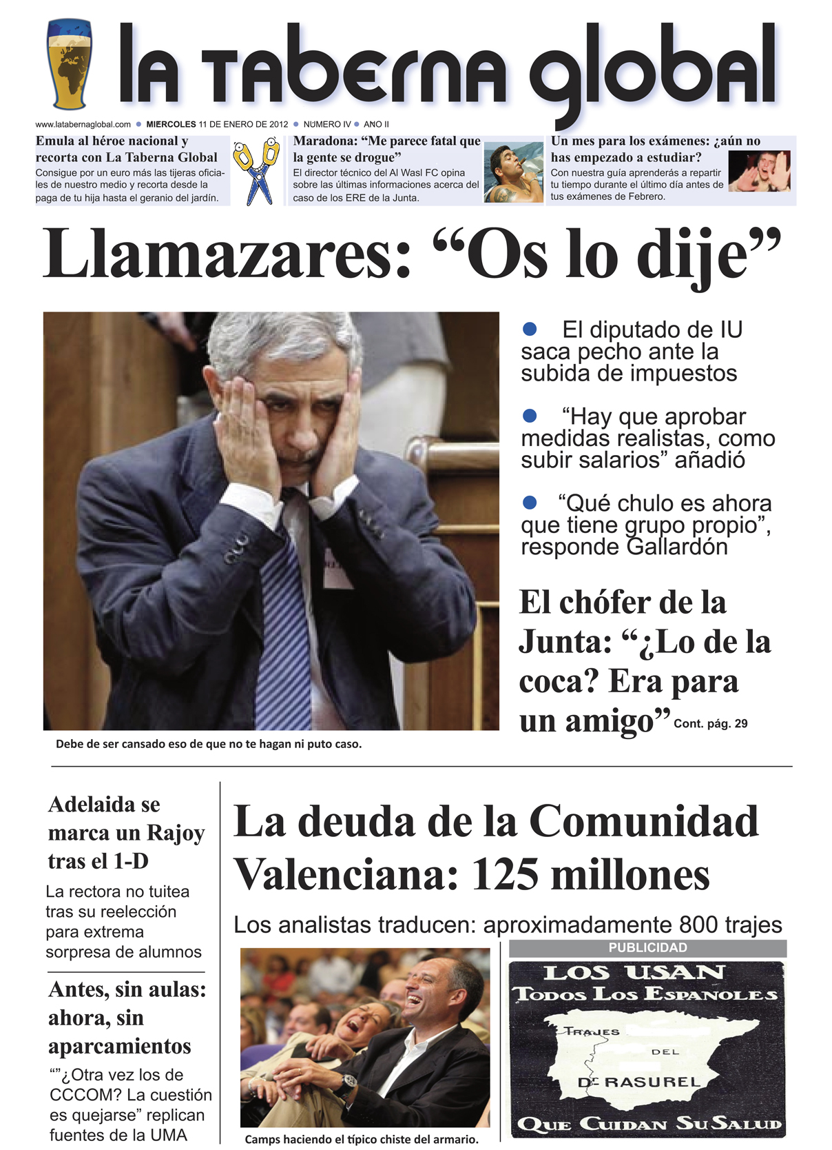 La portada satírica de LTG 11/01/12
