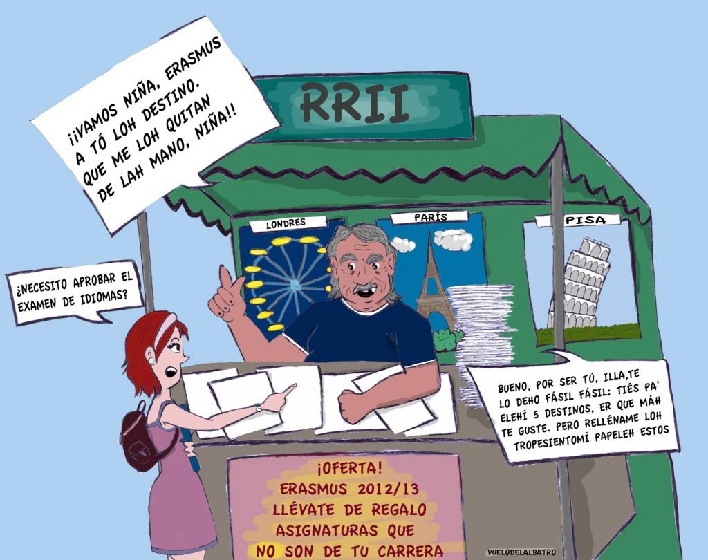 La viñeta: Erasmus de mercadillo