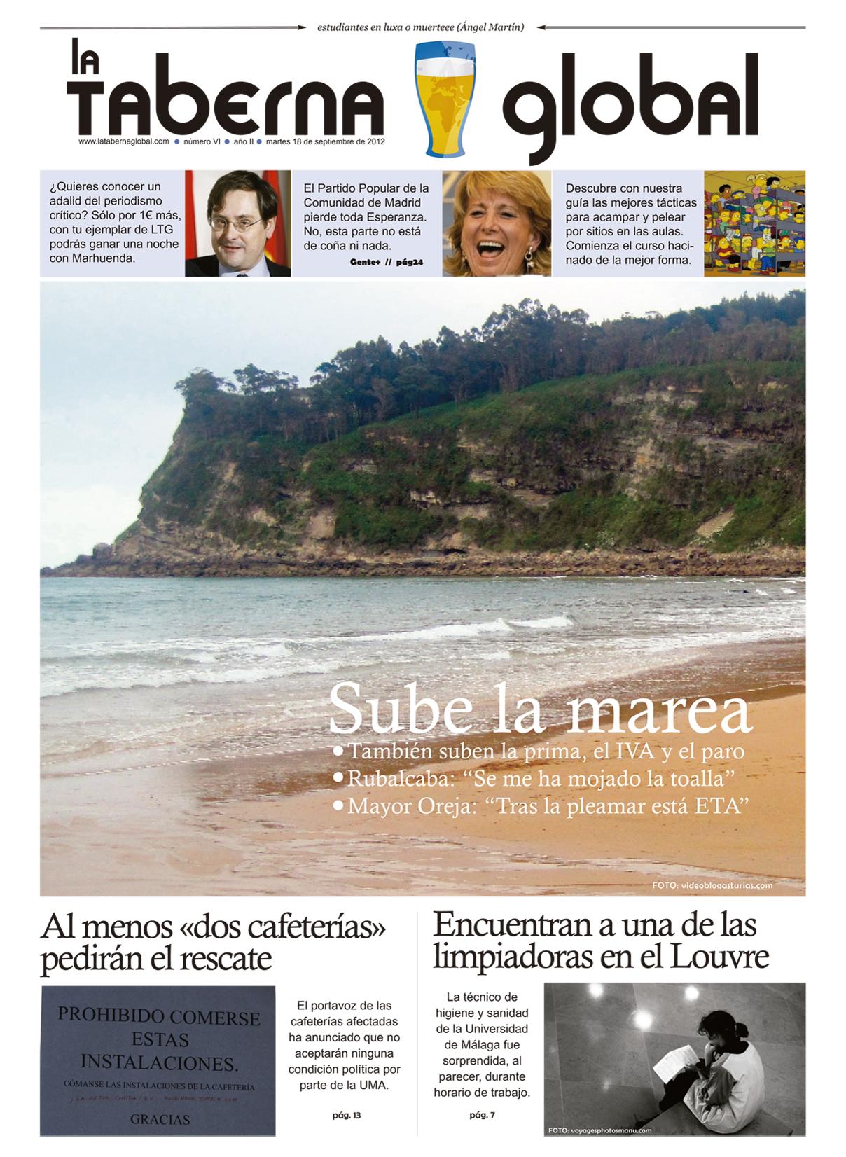 La portada satírica de LTG 18/09/12