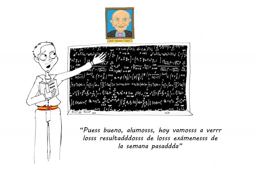 La viñeta: Españolizando la educación