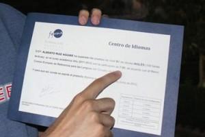 Alberto Ruiz Aguiar, director de La Taberna Global, ya tiene su B1. Y se lo sacó con un 7, no os creáis.