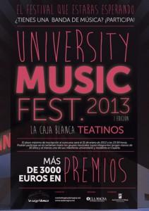 I edición de 'University Music Fest' para bandas emergentes