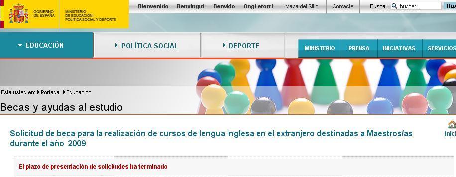Pagina ministerio educacion becas