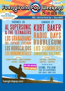 Cartel del Fuengirola Pop Weekend 2013.