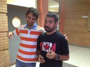Isaac, a la derecha, con su APS Sergio