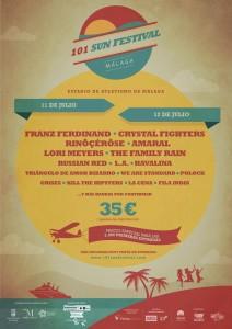 Cartel oficial del '101 Sun Festival.