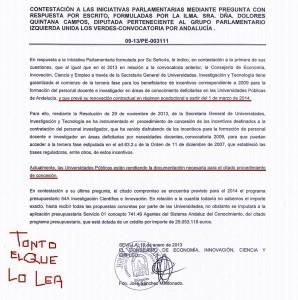 La Junta se comprometió a renovar los contratos el 1 de marzo. Y tonto el que lo lea.