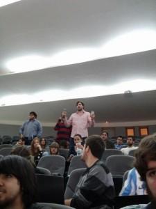 Nando Ureña, de Eureka, y Leo Rama, de LTG, por la lucha del proletariado.
